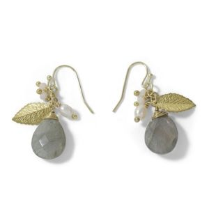 Leaf stone earrings